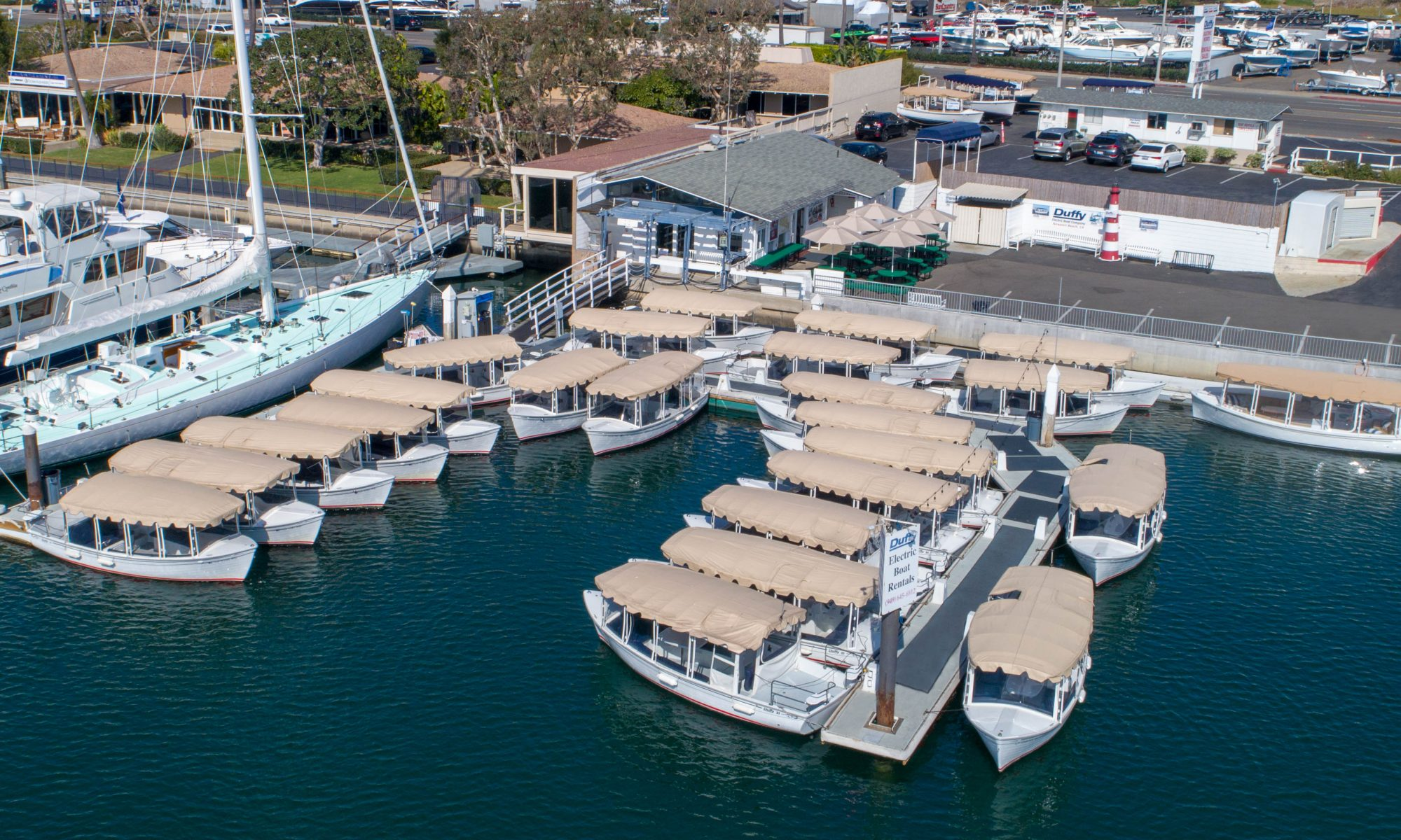 duffy electric boats rental site in Newport Beach, CA