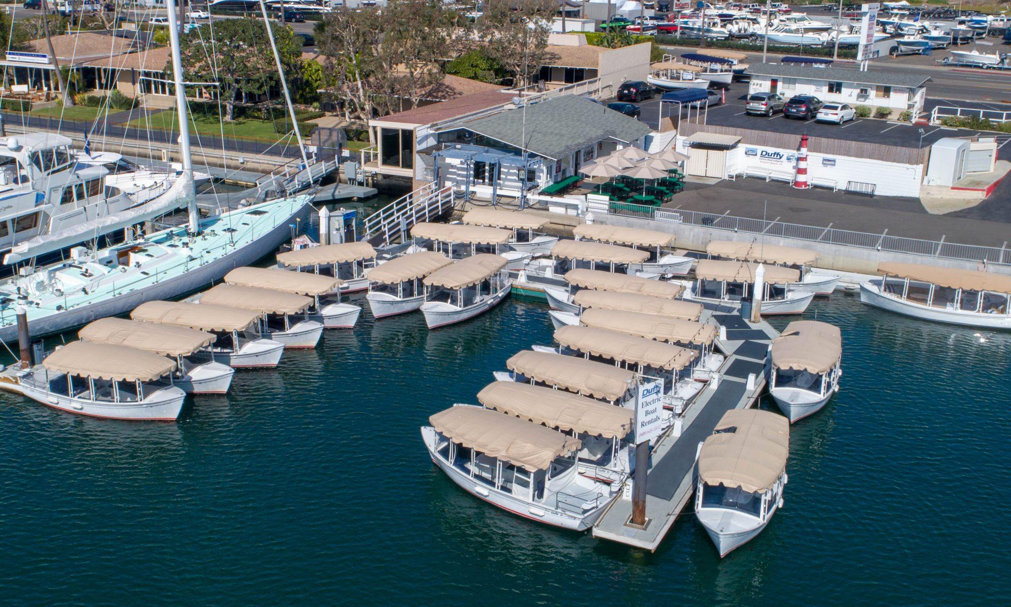 duffy electric boats rental site in Newport Beach, CA
