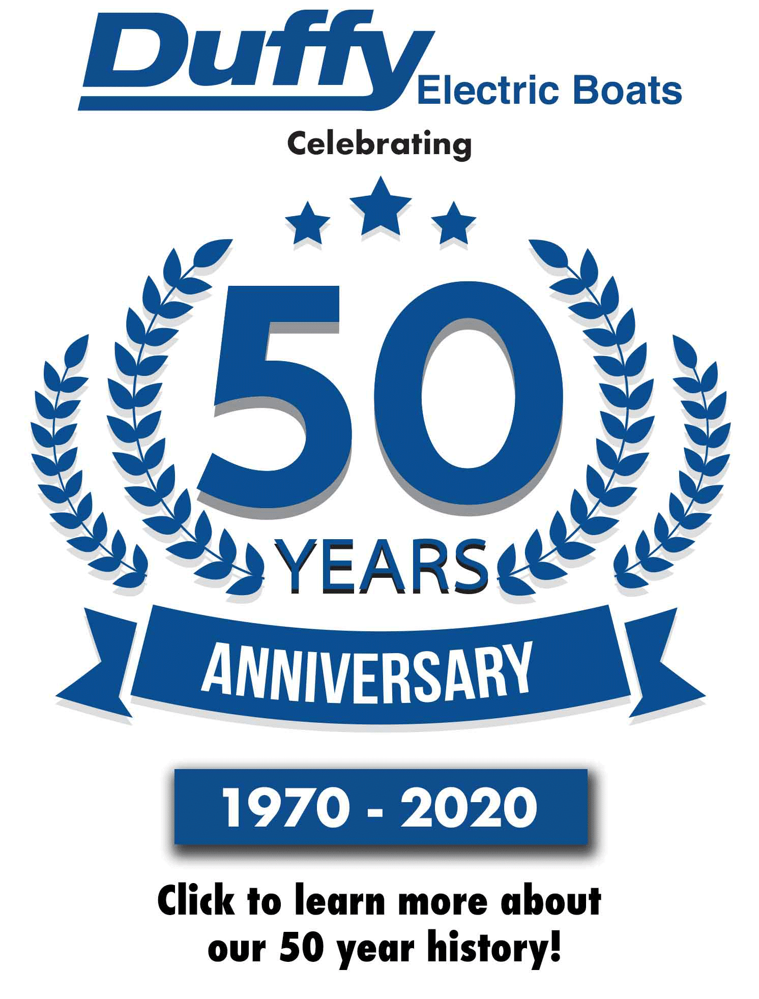 Duffy Electric Boats is celebrating its 50 year anniversary this year. 1970 to 2020.