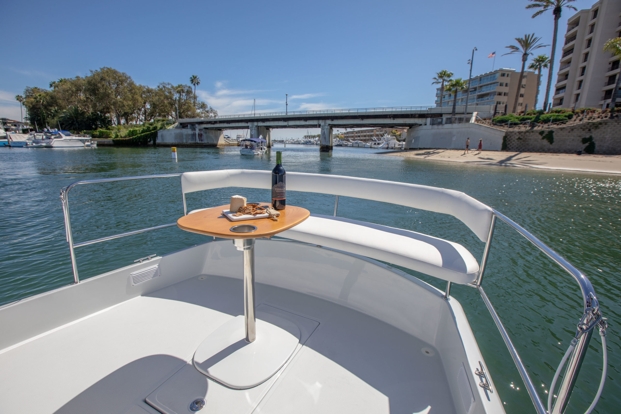 Photo of 2020 Duffy Electric Boat 22 Sun Cruiser aft outside cockpit.