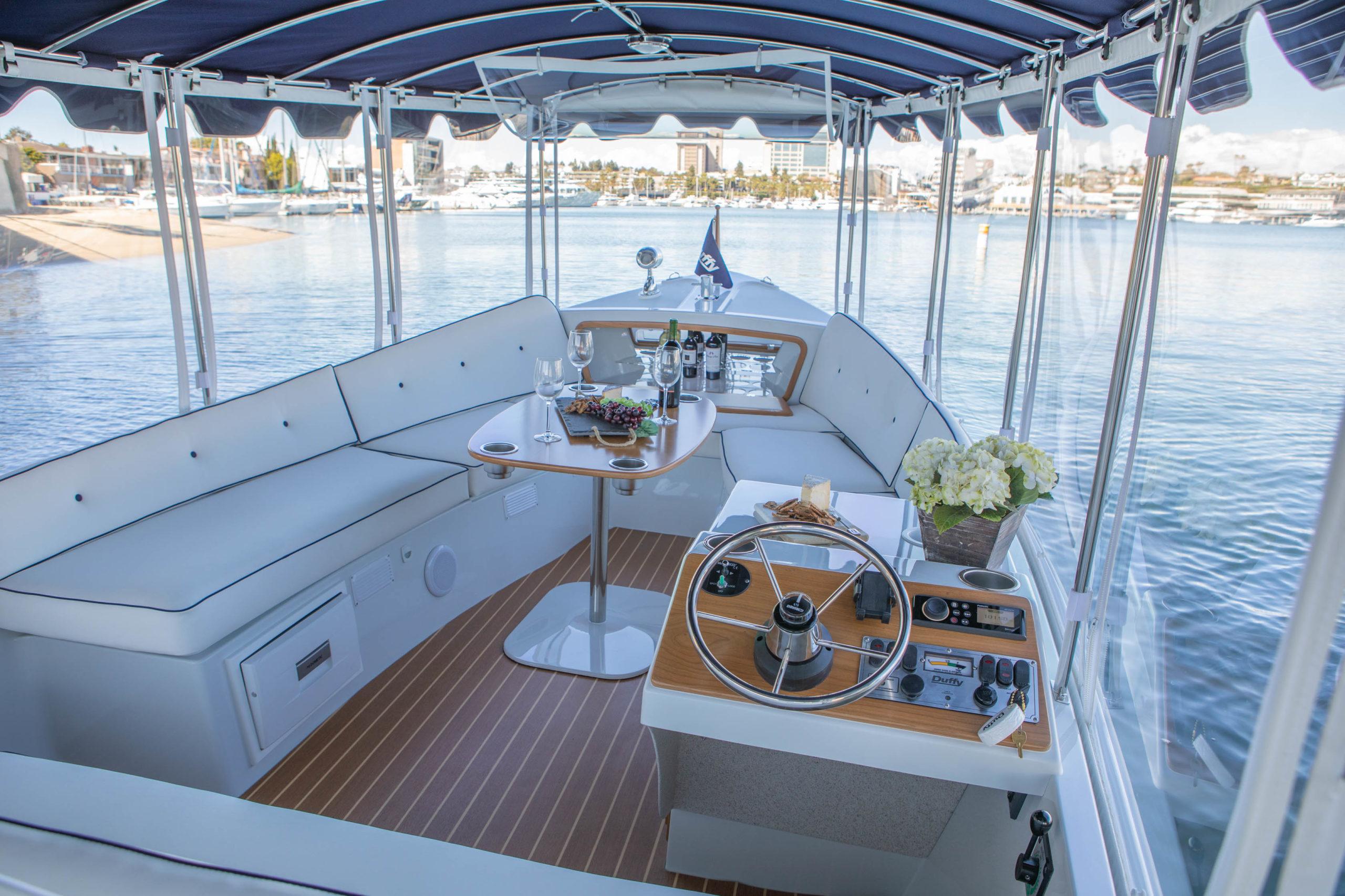 Interior photo of 2020 Duffy Electric Boat 22 Sun Cruiser.