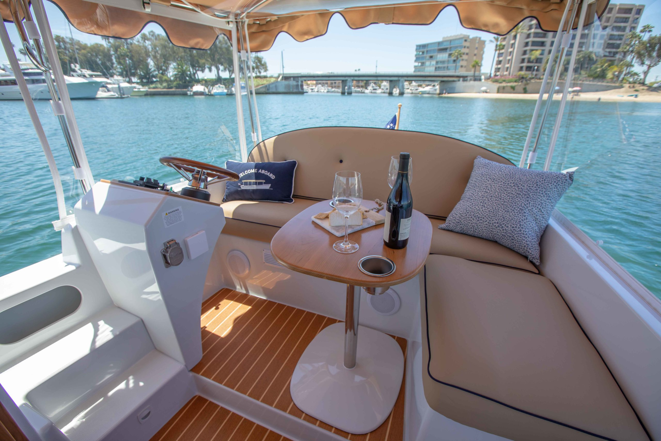 Duffy-Electric-Boats-22-Cuddy-Cabin-Interior-9